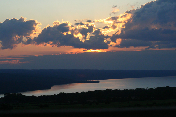 Cayuga Lake Sunset from the CRS Barn Studio