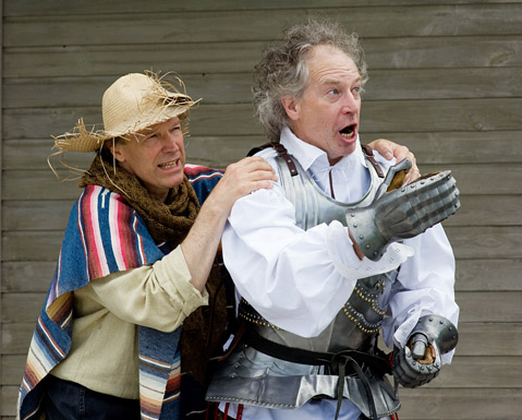 David Neal as Sancho and Steve Stull as Don Quixote