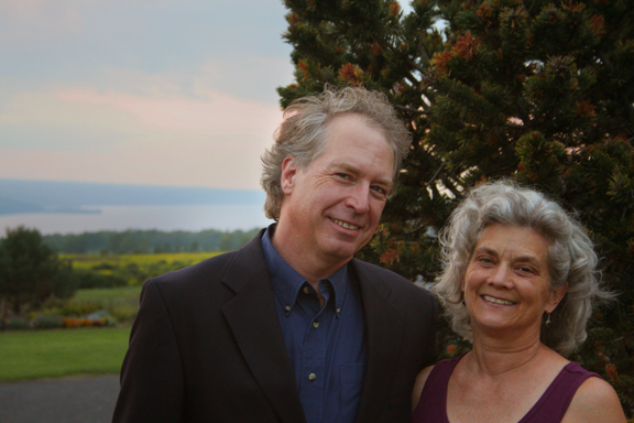 Artistic Directors Steven Stull and Jeanne Goddard at the CRS Barn Studio
